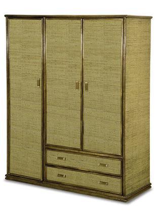 Шкаф  трёхдверный из натурального ротанга