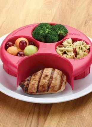 Органайзер для тарелки/измерение еды/правильное питание.