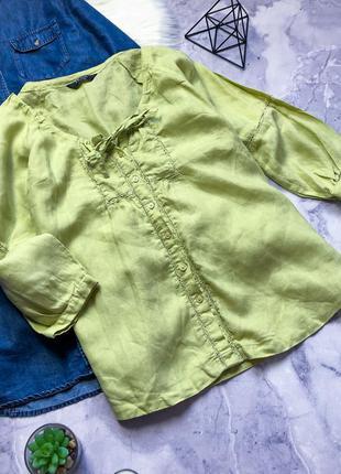 100%лен стильная рубашка со вставками из кружева