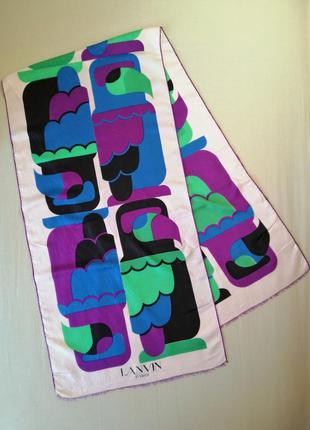 Винтажный шелковый шарф lanvin paris