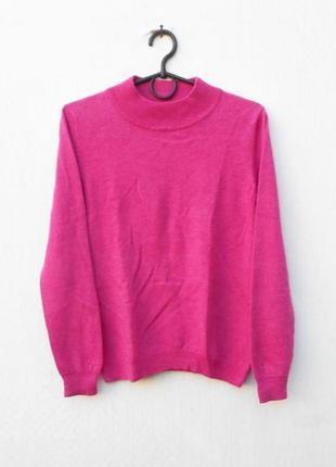 Мерино шерстяной зимний осенний свитер с длинным рукавом