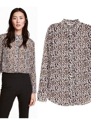 Шифоновая блузка леопард xxs