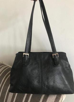 Вместительная кожаная сумка genuine leather