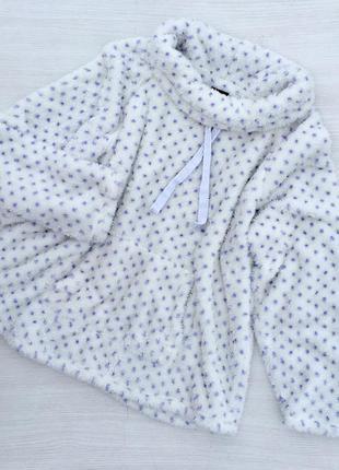 Тёплый плюшевый свитшот ,кофта,пижама f&f большого размера