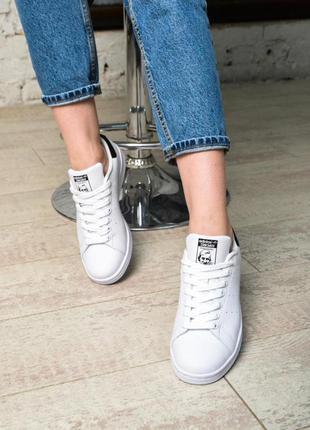 Модные кроссовки 💪adidas stan smith white black💪