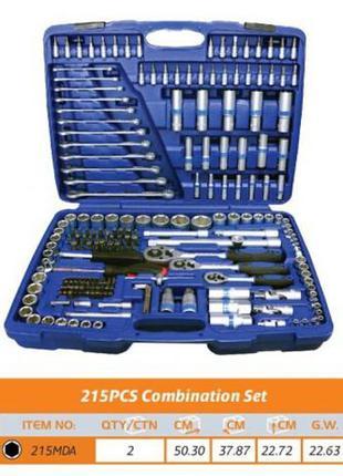 Набор инструментов 215 предметов King Roy 215 MDA