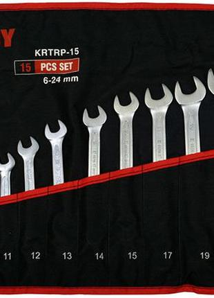 Набор ключей рожково-накидных 6-24 мм 15 предметов King Roy KR...