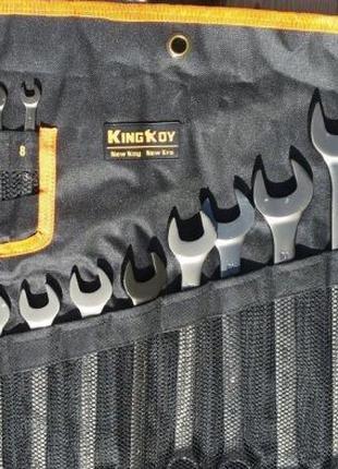 Ключи рожково-накидные (набор) матовые 18 шт (8-32) King Roy