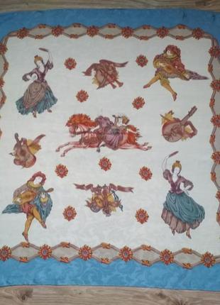 Красивый шелковый платок, италия
