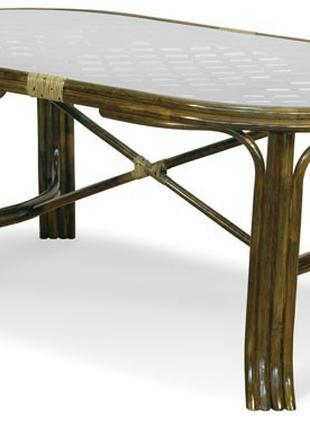 Стол обеденный из натурального ротанга