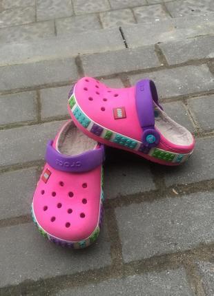 Кроксы утеплённые crocs lego оригинал j1
