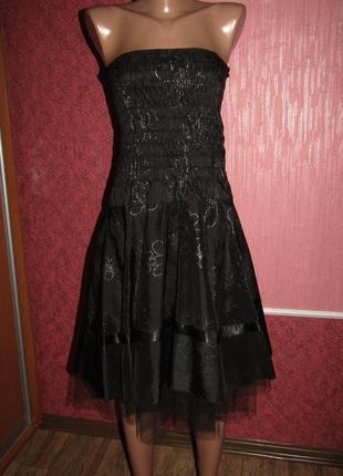 Нарядное платье р-р s сост нового