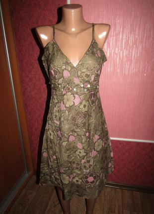 Натуральное легенькое платье р-р 12-л бренд 3-suisses