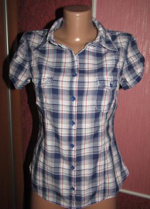 Натуральная рубашка р-р 38 бренд h&m logg