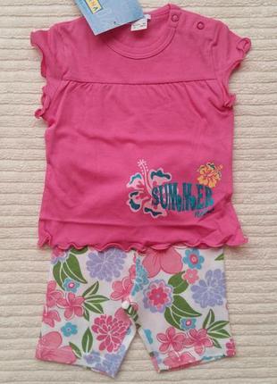 Комплект iana (италия) для девочки 6-9 месяцев
