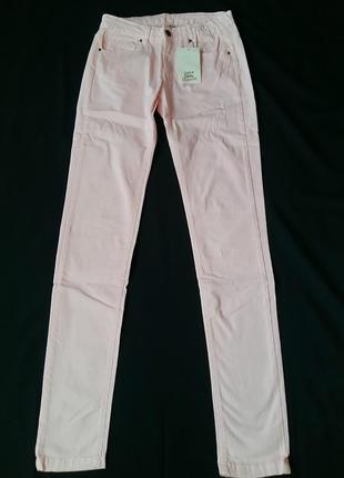 Модные розовые джинсы zara для девочки 13-14 лет (размер 164)