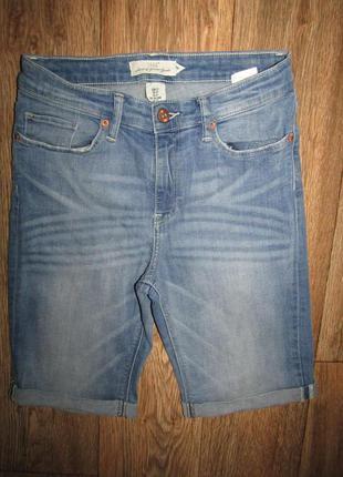 Джинсовые шорты бриджи р-р s-27 бренд logg h&m