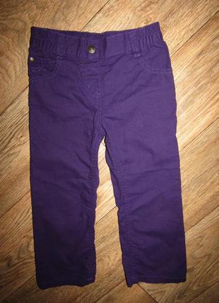 Тонкие брюки девочке рост 104 бренд lupilu