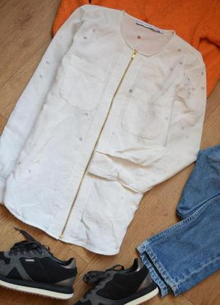 & other stories оригинал бомбер блузка блейзер белый м на змейке