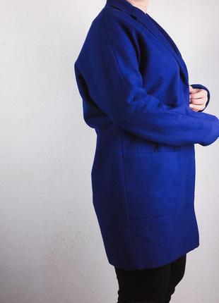 Синее бойфренд пальто topshop