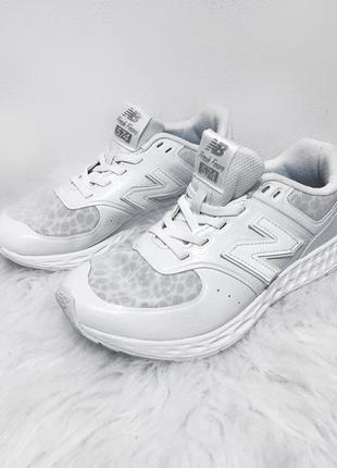 Белые рефлективные кроссовки new balance 574