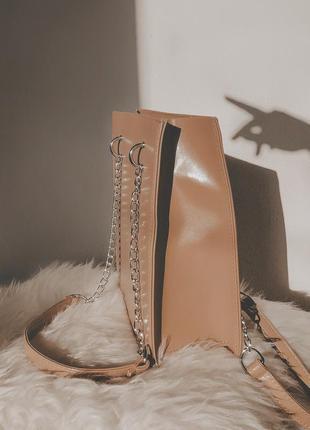 Новая бежевая сумка на плечо
