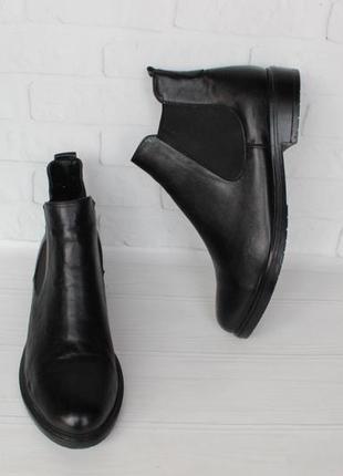 Демисезонные кожаные челси, ботильоны, ботинки 40 размера на н...