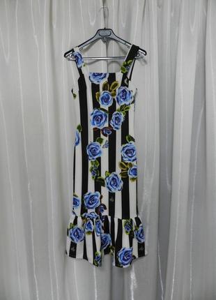 Платье миди волан