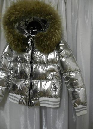 Куртка дутик с натуральным мехом