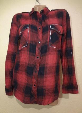 Рубашка в клетку seven sisters размер s