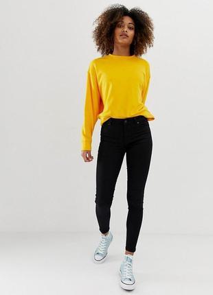 Черные джинсы скинни размер 36-38 (xs-s-м)