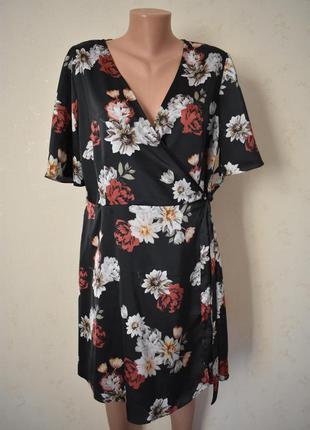 Красивое платье на запах с принтом new look