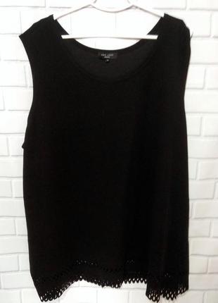 Фирменная, рельефная блуза с перфорацией по низу new look /арт.01