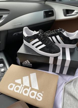 Кроссовки adidas gazelle черные замша адидас газель