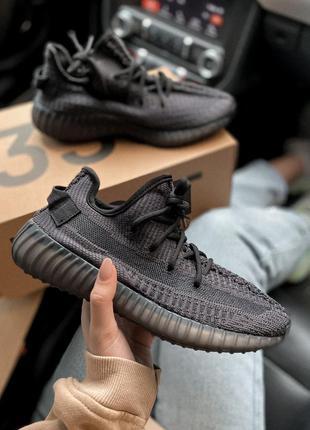 Adidas yeezy 350 black женские кроссовки адидас изи 350 черные