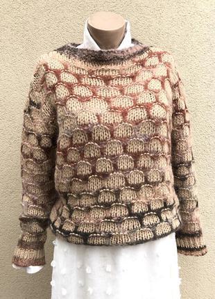 Вязаный,мохеровый,шерсть кофта,свитер,джемпер,momini,италия