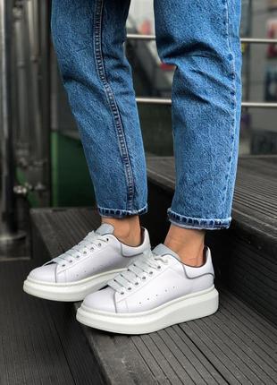 Женские крутые рефлективные кроссовки alexander mcqueen white/...