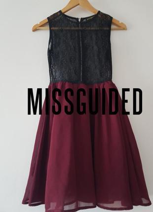 🔥🔥🔥стильное платье-мини с очень красивым гепюром 🖤  missguided 🖤