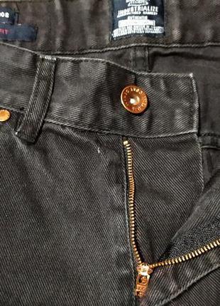 Зауженные джинсы slim fit с медной фурнитурой. качество от