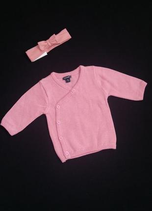 Кардиган/кофта kiabi (франция) для новорожденной девочки (разм...