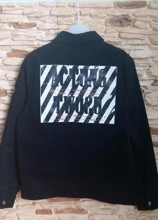 Джинсовая куртка/жакет street gang (италия) на 14-16 лет (разм...