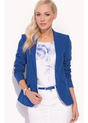 Брендовый пиджак жакет блейзер с карманами eastex большой размер
