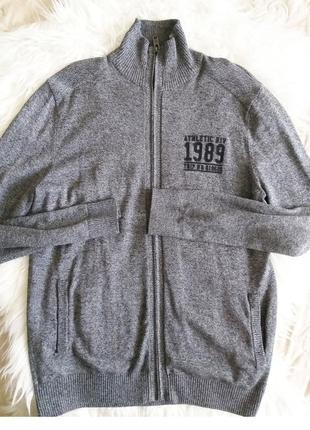 Серый  свитер/кофта на молнии c&a angelo litrico m/l