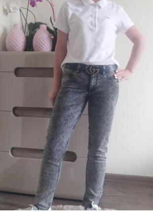 Серые джинсы от h&m divided s/36