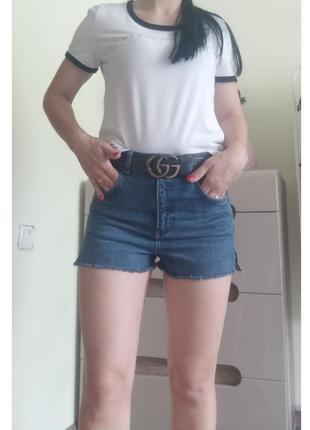 Джинсовые шорты mom от topshop moto xs/s