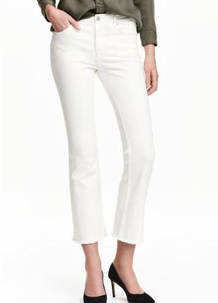 Белые  джинсы boot cat от h&m s/m