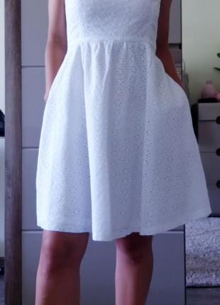 Шикарное белое платье сарафан бюстье от бренда zara s/36