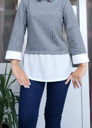Элегантная блуза обманка xs/s