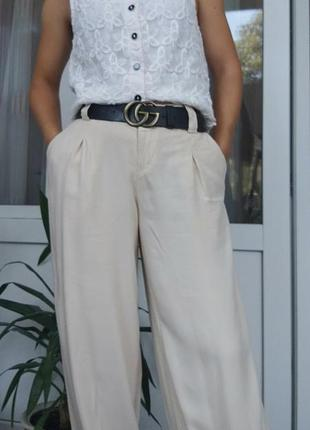 Легкие бежевые брюки от бренда bonprix 38/m🔴