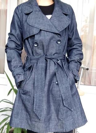 Sale new look стильный весенний плащ/ тренч/тренчкот синий под...